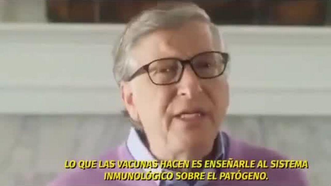 """Gates admitiendo que su vacuna """"experimental"""" CAMBIARÁ nuestro ADN PARA SIEMPRE, un loquil"""