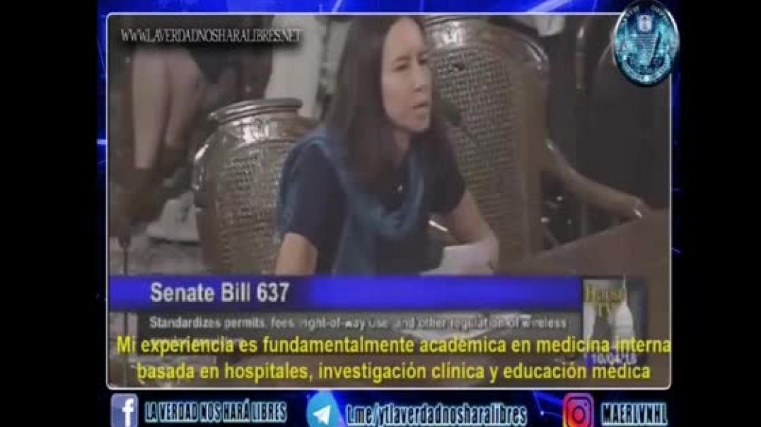 BOMBAZO!! EXPERIMENTADA DOCTORA HABLA DE LA NOCIVIDAD DEL 5G EN EL SENADO