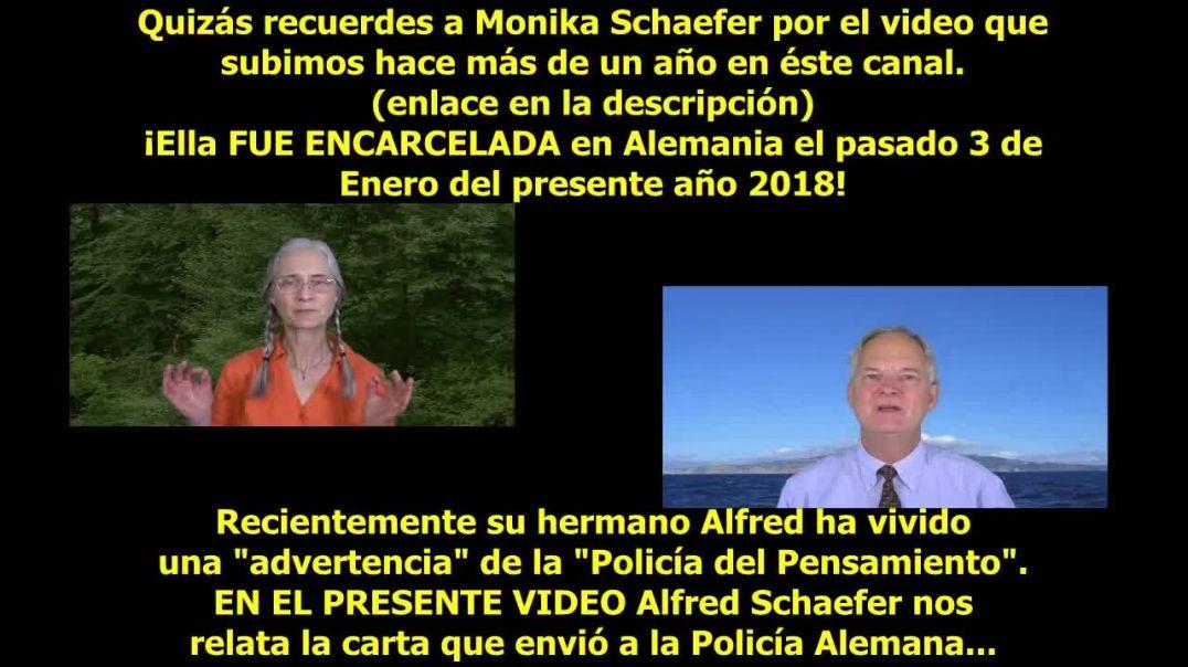 Carta a la Policía Alemana...Alfred Schaefer.