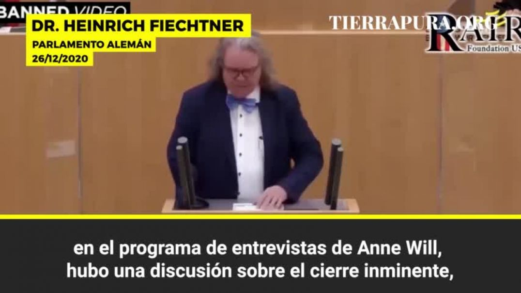 CUIDADO: «Es una vacuna asesina»: La advertencia del doctor alemán Heinrich Fiechtner.