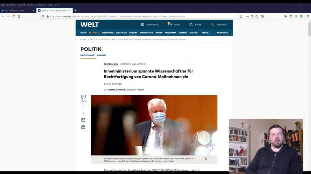 El gobierno alemán encargó a científicos informes alarmistas para justificar cuarentenas.