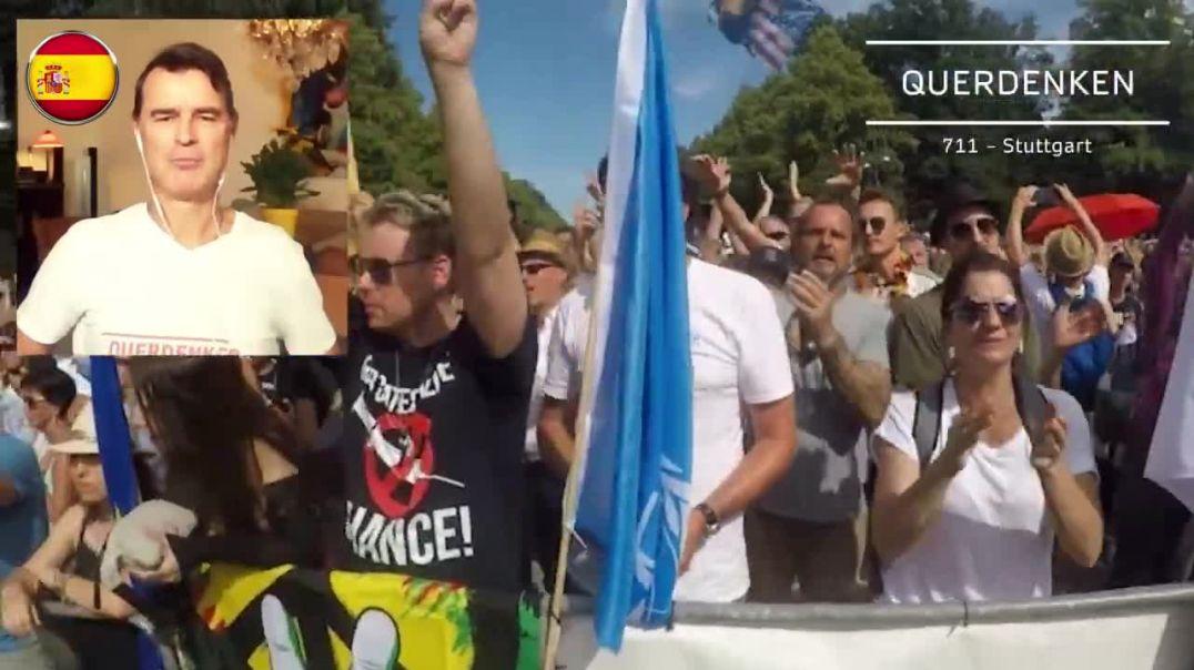 Querdenken 711, una de las plataformas que estuvieron en la gran manifestación del mes de agosto en