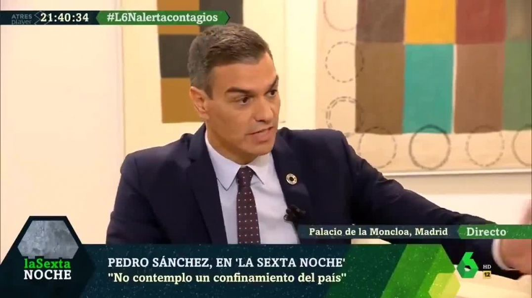 Pedro Sánchez afirma que el confinamiento no existió.