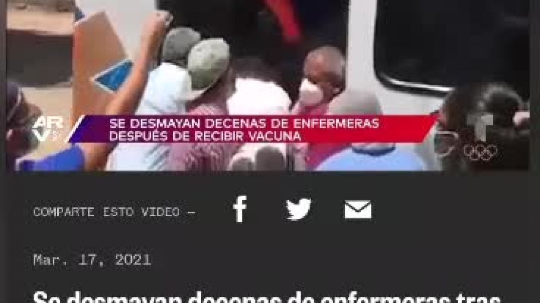 Locura total. Honduras. Decenas de enfermeras se desmayan tras vacunarse.