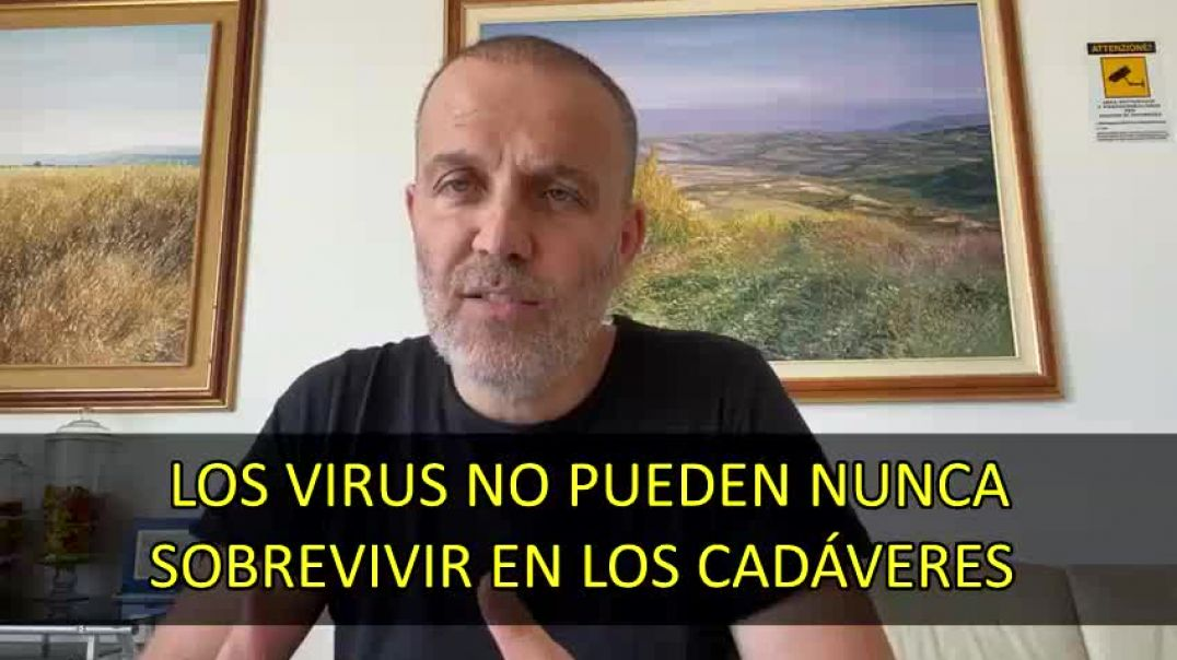 Dr. Pasquale Bacco. Los virus no pueden nunca sobrevivir en los cadáveres.