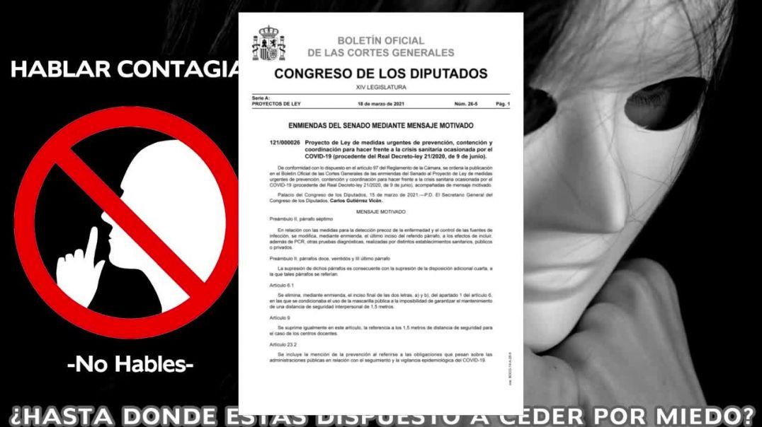 Datos sobre contagios y muertes publicados por le Ministerio de España
