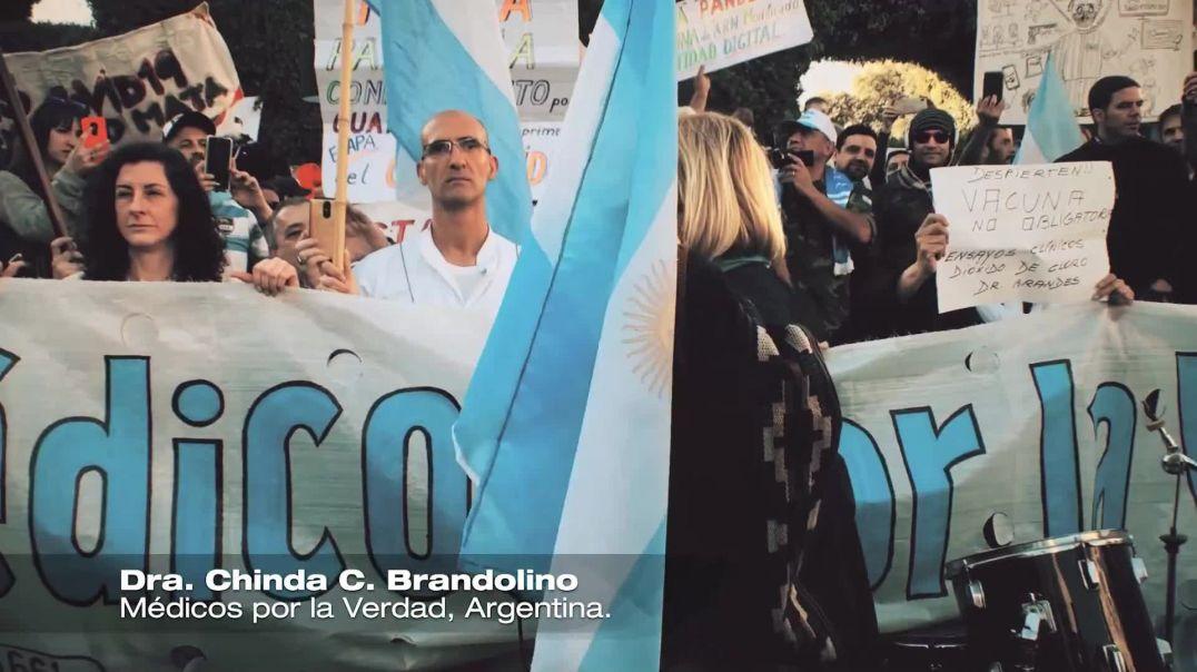 Manifestación en Argentina , 17 agosto 2020, Médicos por la Verdad Argentina