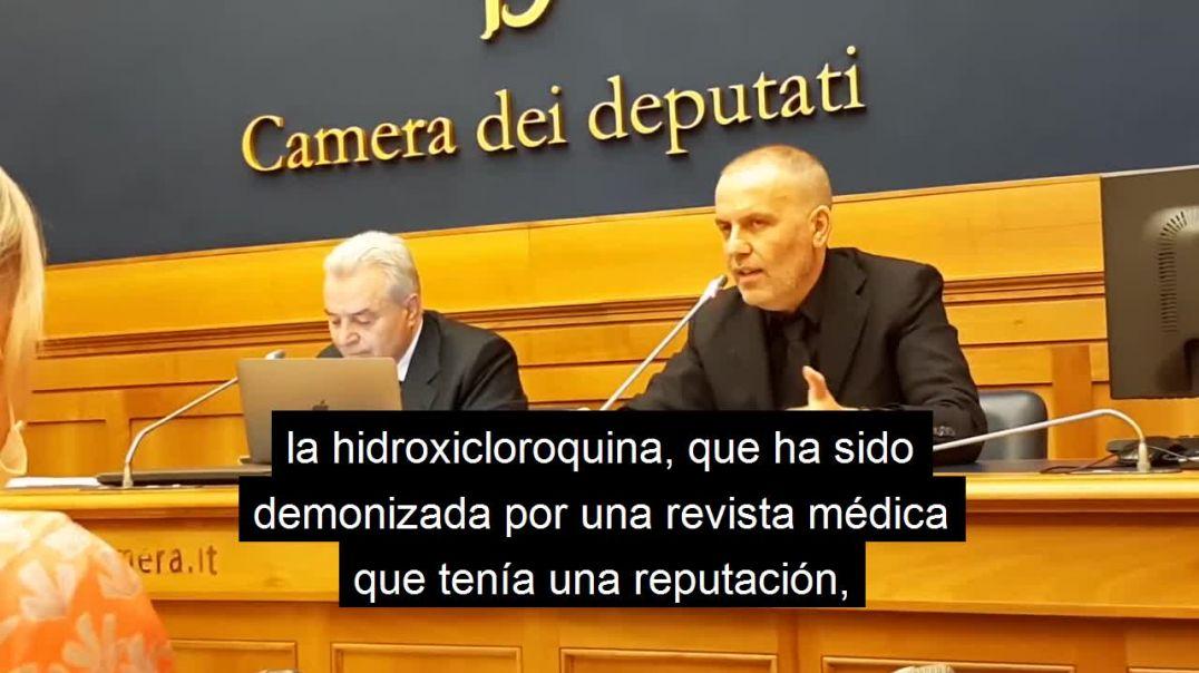 Dr Bacco denuncia las muertes que han causado los protocolos, en la Cámara de Diputados italiana