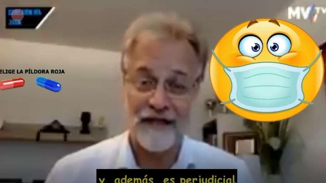 """ANDREAS KALCKER: """"EL TAPABOCAS ES DE LO MÁS PERJUDICIAL QUE HAY""""."""