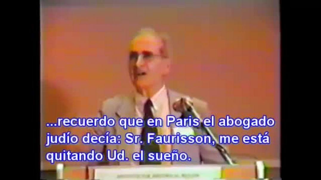 Prof. Robert Faurisson - El 'holocausto' es una mentira histórica.