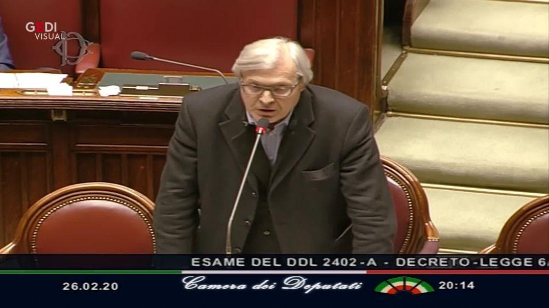 Diputado italiano diciendo verdades sobre el coronavirus