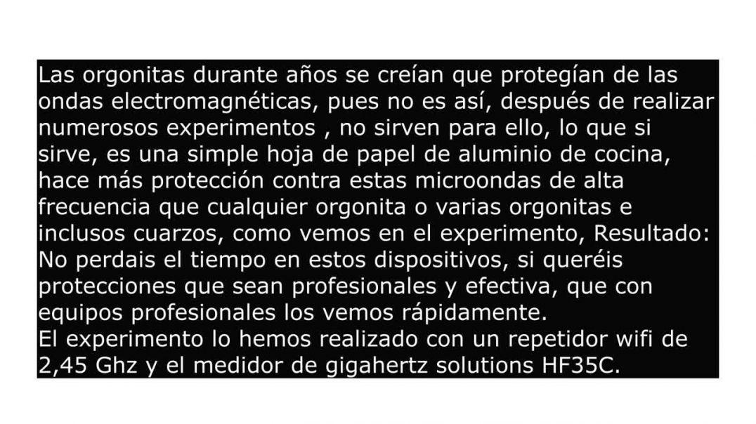 Protección Electromagnética: Las orgonitas no funcionan, el papel de aluminio si.