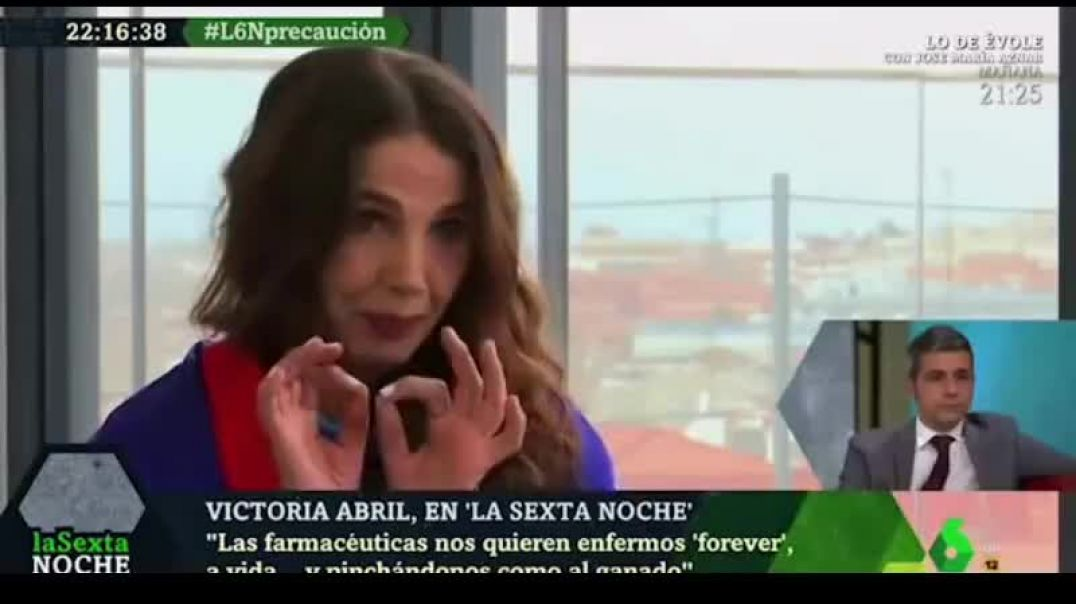 Victoria Abril, heroína de la libertad en tiempos de plandemia