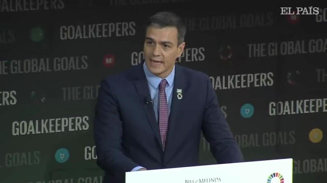 Pedro Sánchez regala 200 millones a Bill y Melinda Gates - Goalkeepers 2019.