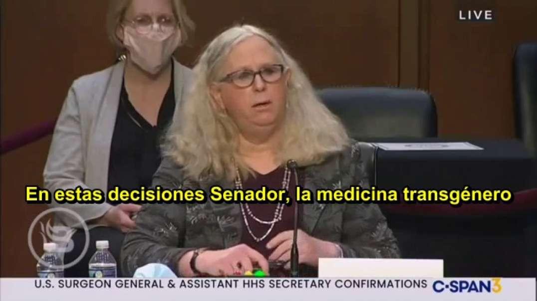 Senador confronta al transexual nominado a la Secretaría de Salud EEUU.