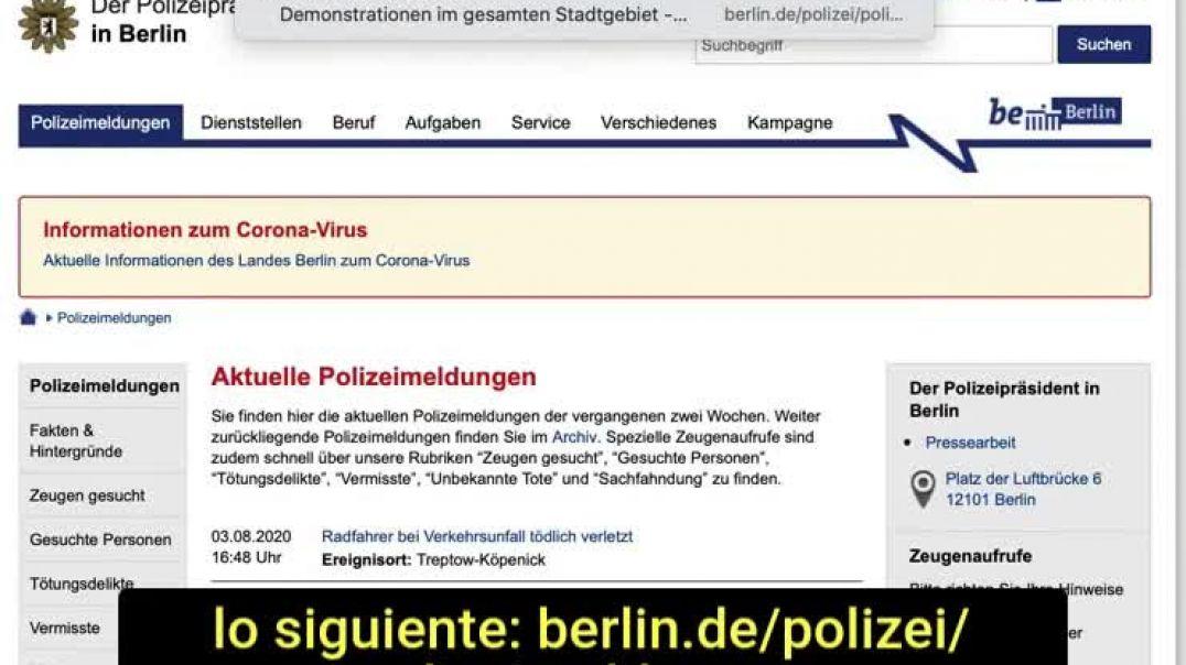 Dr. Bodo Schiffmann - Falsa alarma - No hubo manifestaciones en Berlín.