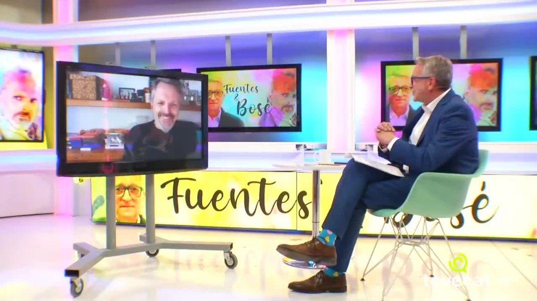 Entrevista a Miguel Bosé en teve cat con Carlos Fuentes.