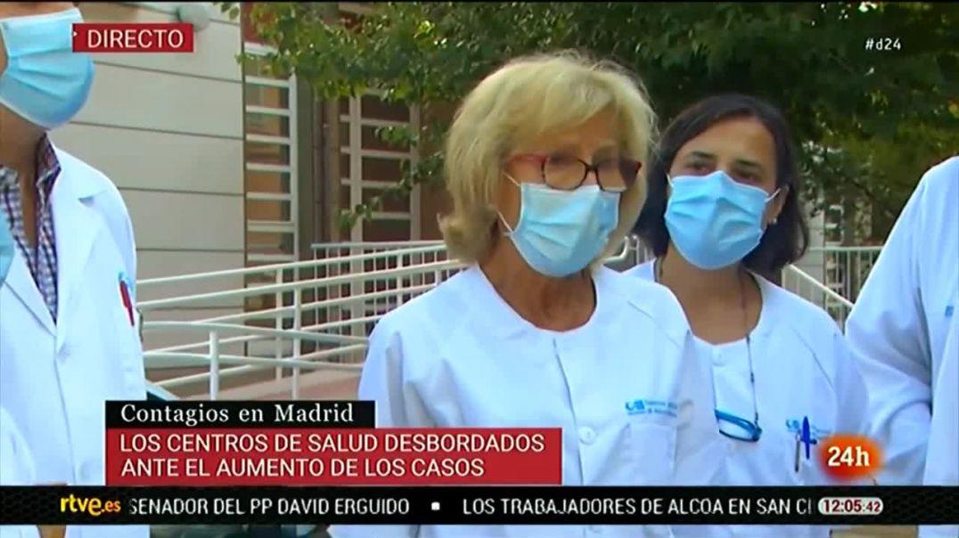Sanitarios bailando, mientras los medios siguen aterrorizando.