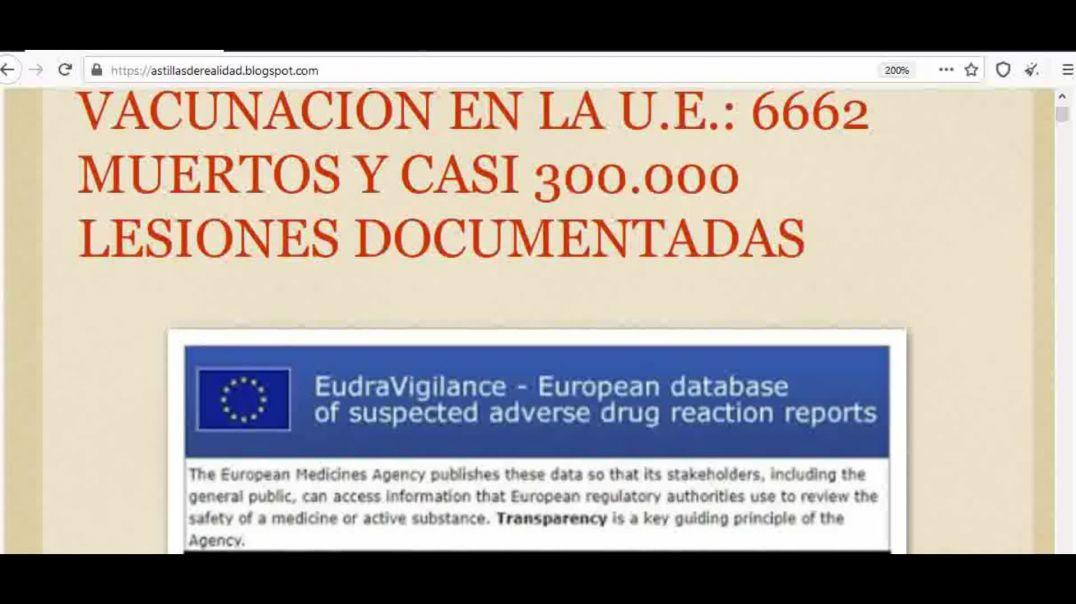 Oficial en la U.E. Han Muerto 6662 por la Vacunación