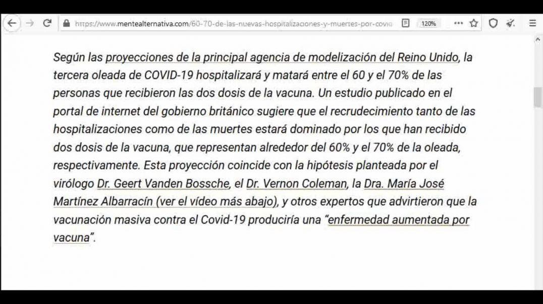 Oficial 60-70% de los Vacunados Morirá/Enfermerá