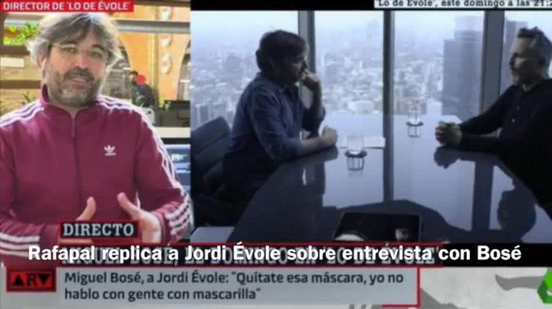 """Rafapal replica a Jordi Évole sobre la entrevista a Bosé acerca de la """"Pandemia""""."""