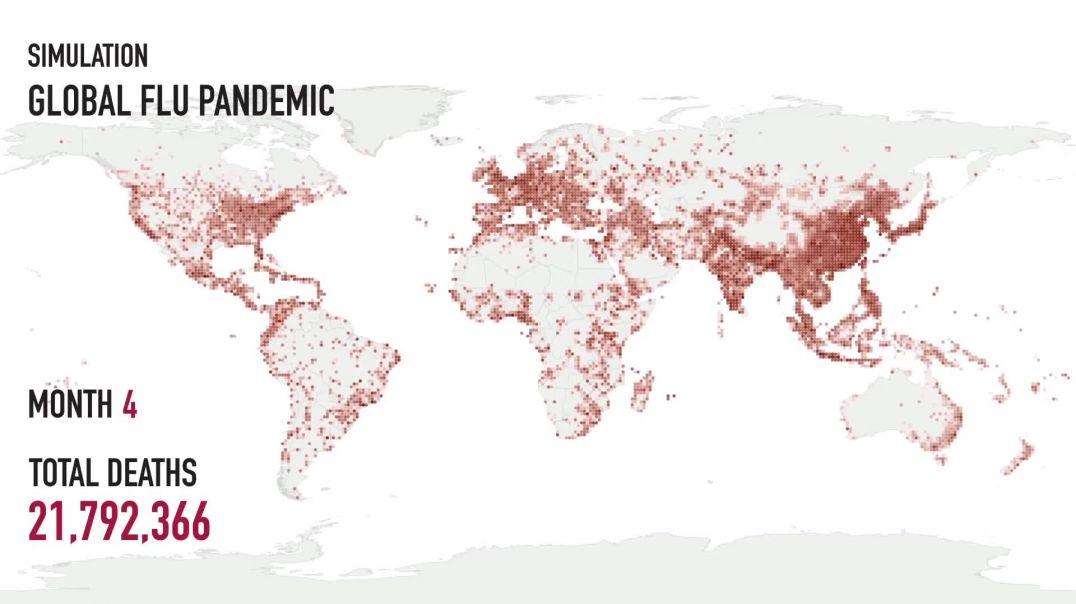 Simulación Pandemia mundial de gripe.