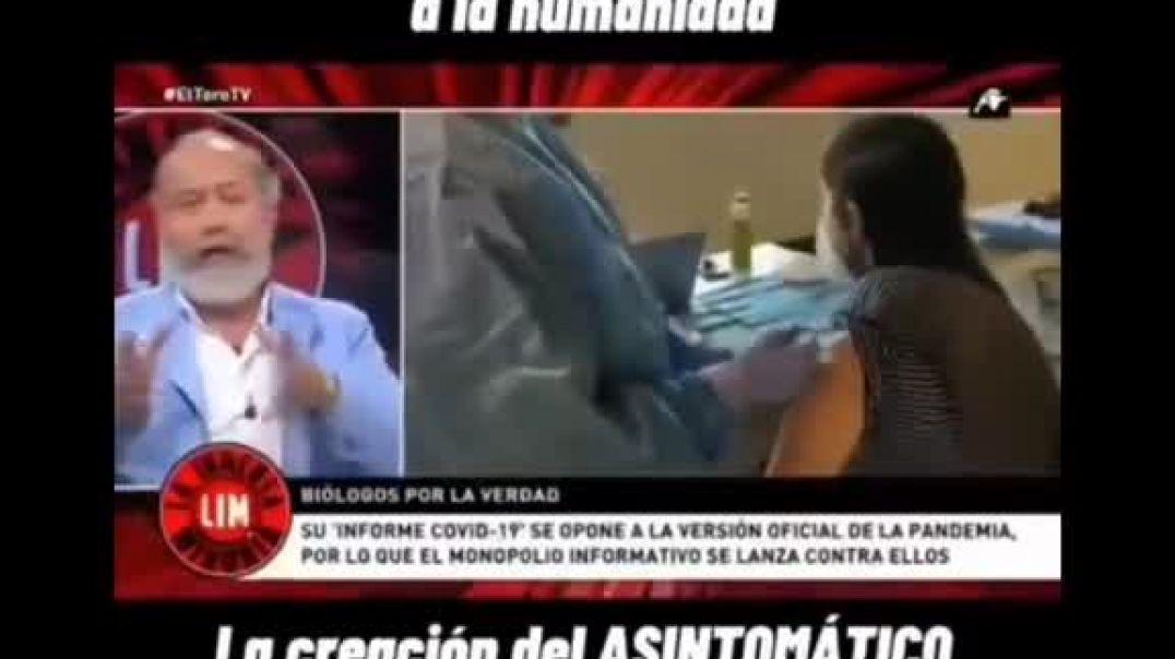 El biólogo López Mirones explicando la función del enfermo asintomático y las pruebas PCR.