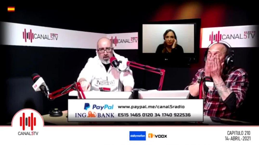 Bióloga Almudena Zaragoza exponiendo la situación actual. En Canal 5 TV. 14 abril 21.