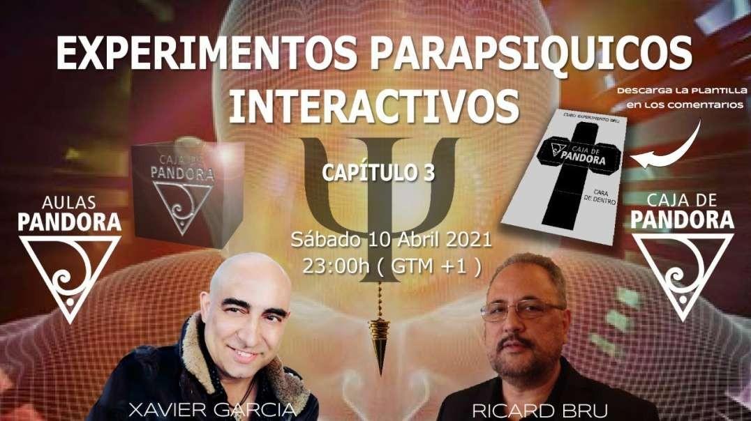 EXPERIMENTOS PARAPSIQUICOS INTERACTIVOS CON RICARD BRU Y XAVIER GARCIA