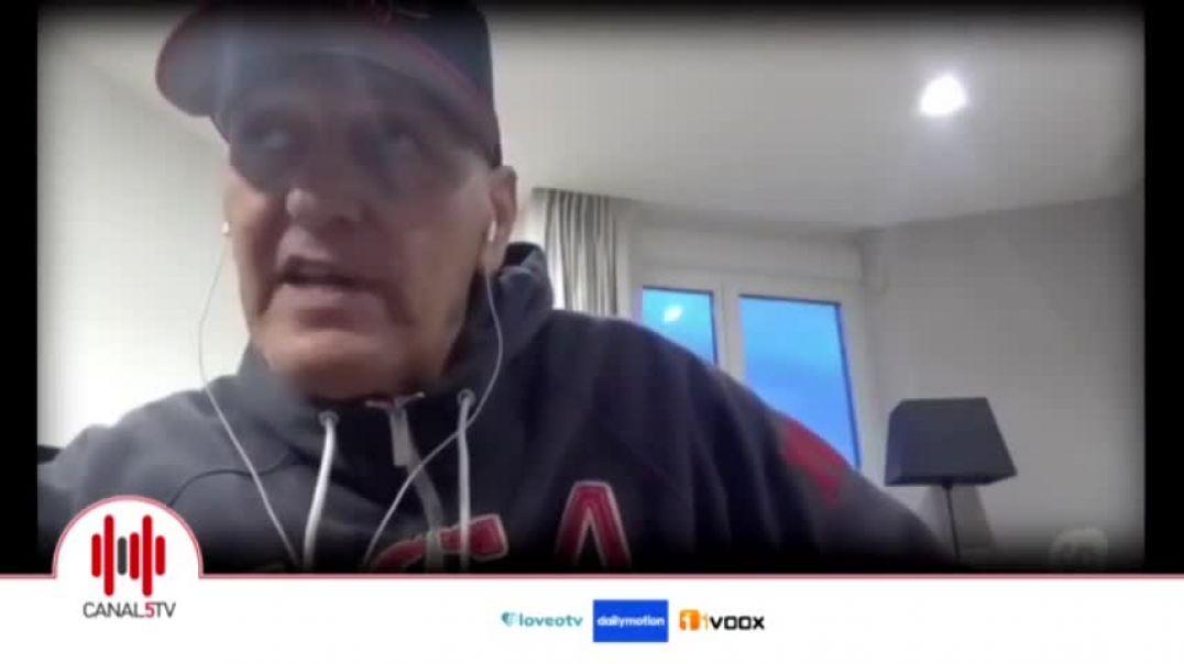 Coto Matamoros. Entrevista en Canal 5 TV.  8 feb 2021.