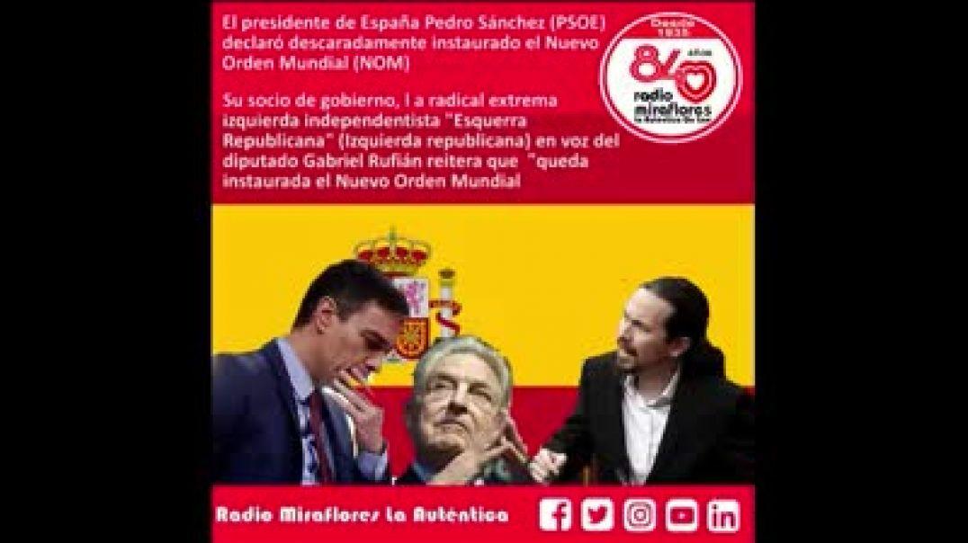 ESPAÑA ANUNCIA el NUEVO ORDEN MUNDIAL. SOROS en el Gobierno de ESPAÑA