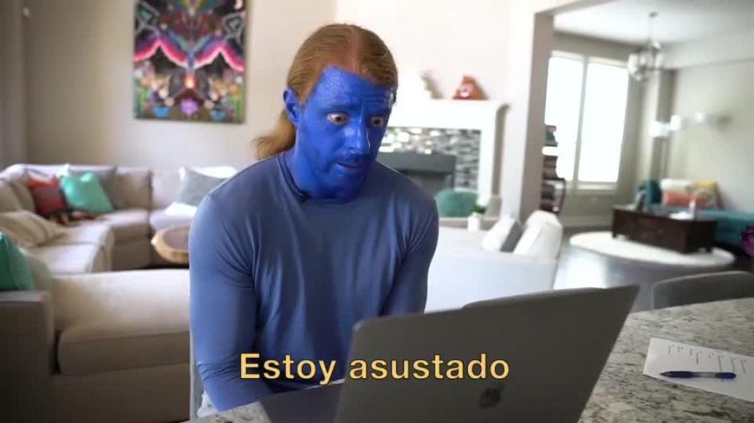 Personas de pastilla azul.