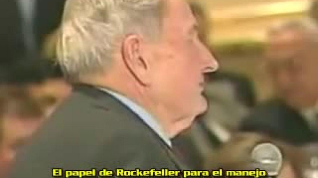 David Rockefeller y Dick Cheney en el CFR.