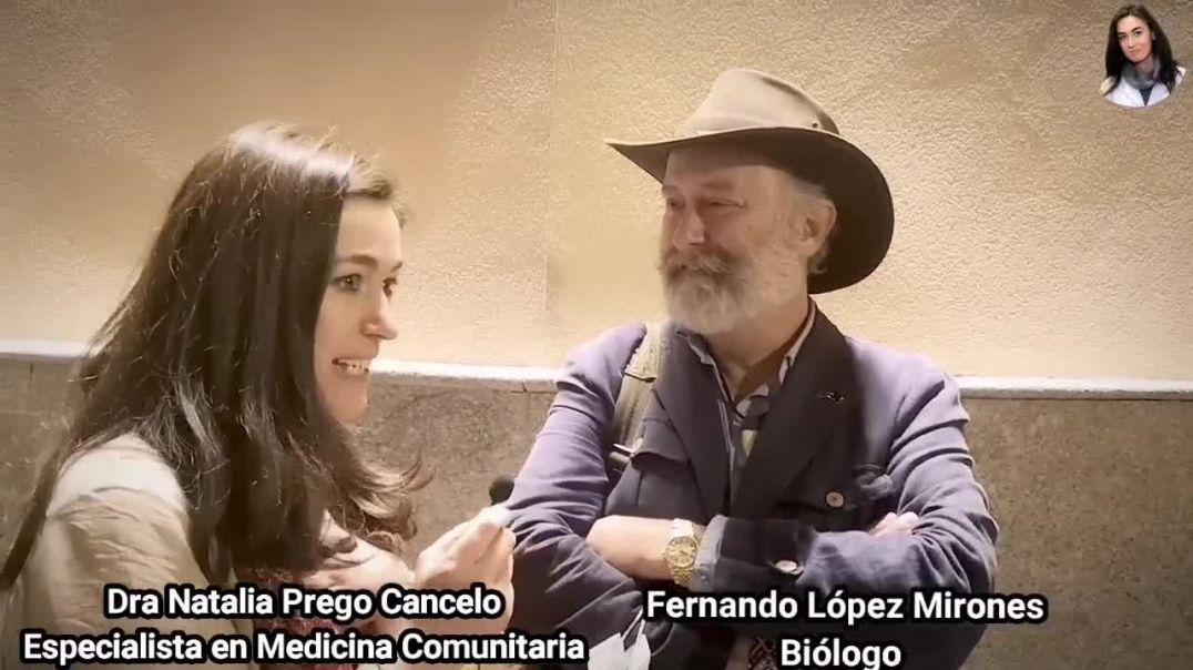 La Dra Natalia Prego Cancelo especialista en medicina comunitaria y el biólogo Fernando López Mirone