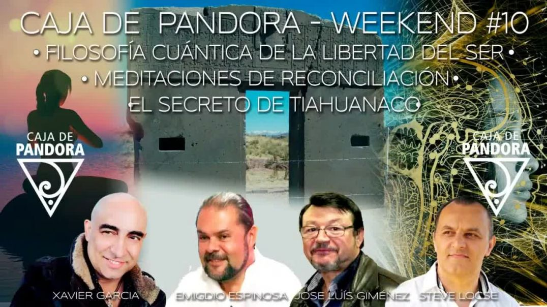 #CAJADEPANDORAWEEKEND 10 CON EMIGDIO ESPINOSA STEVE LOCSE JOSE LUIS GIMENEZ Y XAVIER GARCIA