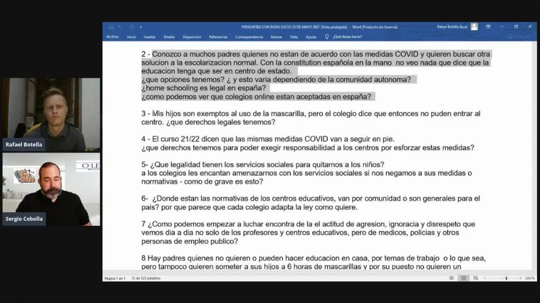 ⛔Con Buen Juicio - Pasaporte Covid - 25.05.2021