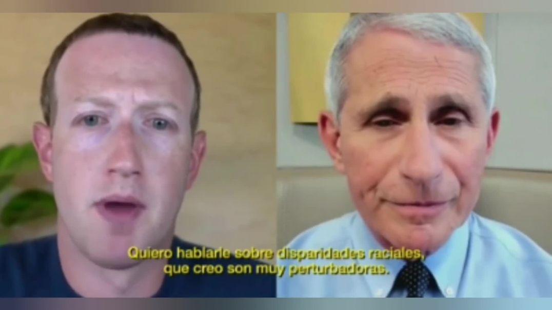 Mark Zuckerberg con Anthony Fauci.