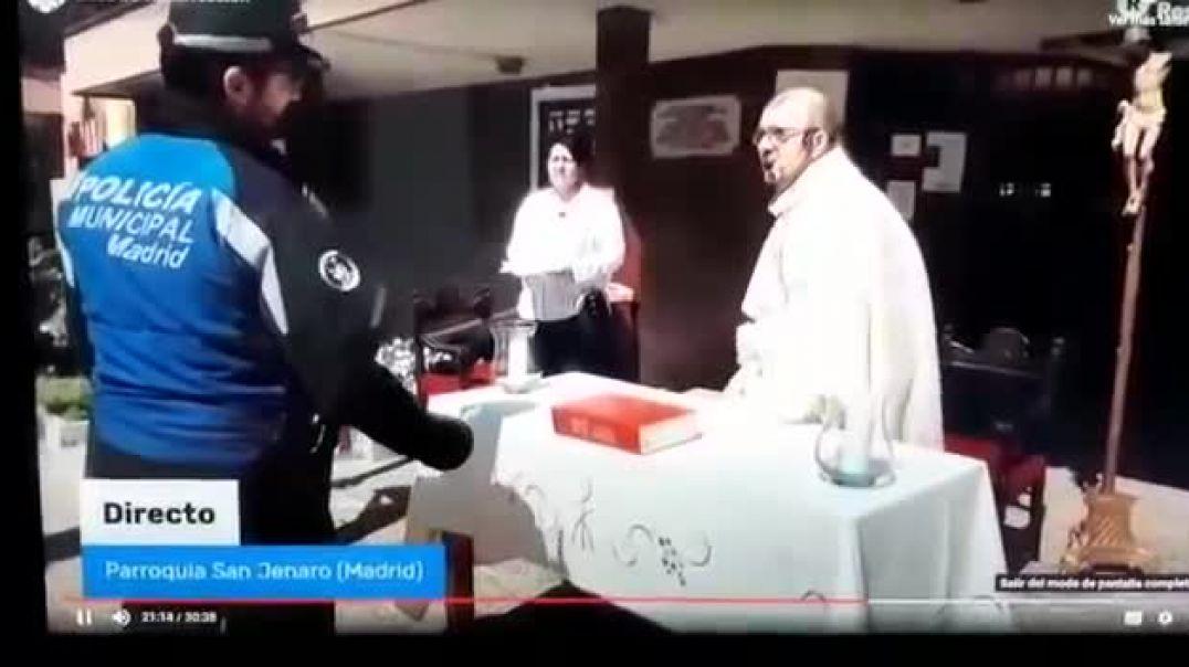 Policía interrumpe  el oficio y proponen para sanción al sacerdote.