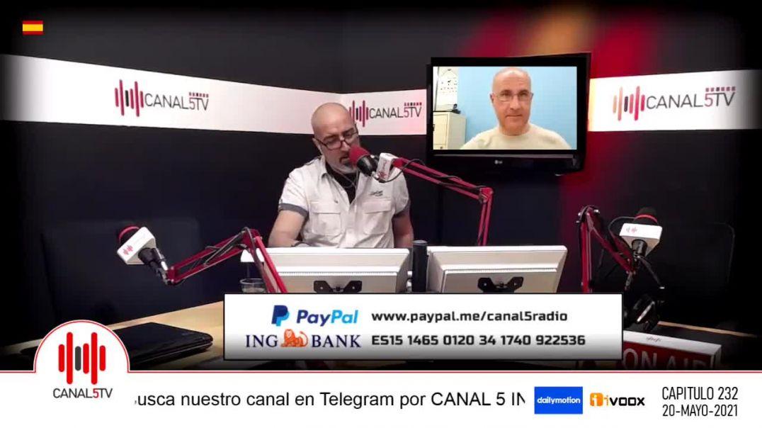 Sustancias magneticas en la vacuna. Entrevista en Canal 5 TV. 20-05-21.