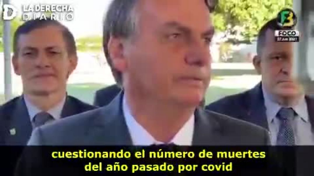 Jair Bolsonaro - Rebajan el 50% la cifra de muertes por Covid-19.