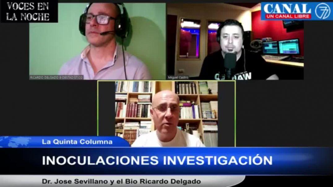 ENTREVISTA A LA QUINTA COLUMNA Y AL DR. JOSÉ LUIS SEVILLANO PARA VOCES EN LA NOCHE - 27 JUNIO 2.021