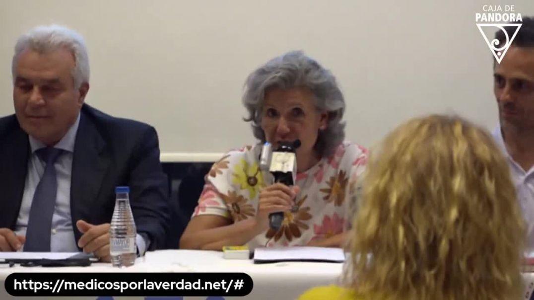 DOCTORA MARIA JOSE MARTINEZ ALBARRACIN EN LA CONFERENCIA INTERNACIONAL MEDICOS POR LA VERDAD, JUNIO