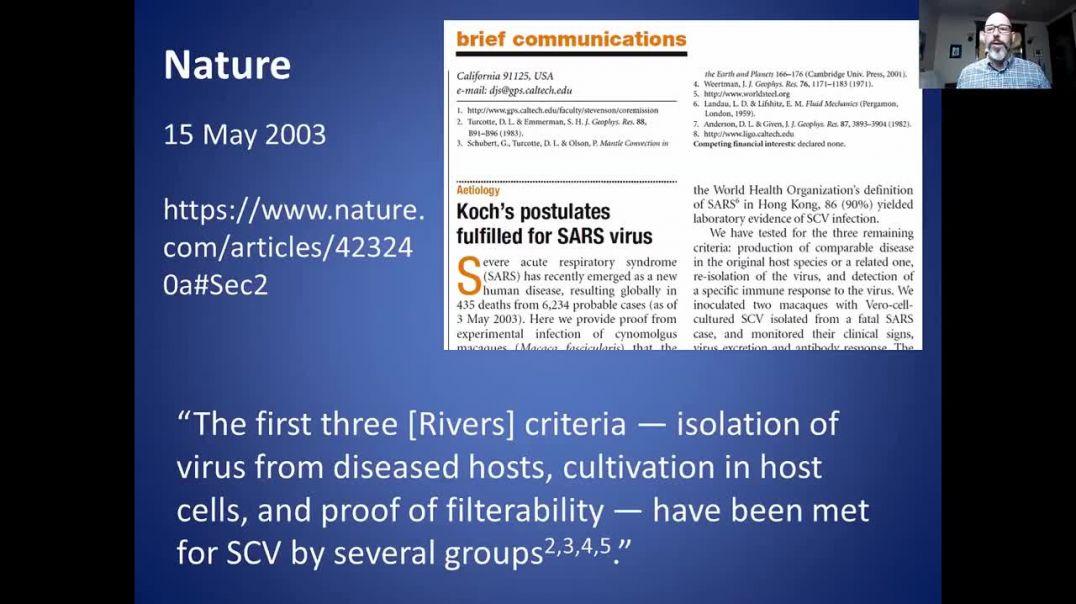 El SARS-COV-2 no cumple con los postulados de Koch ni con los criterios de Rivers.