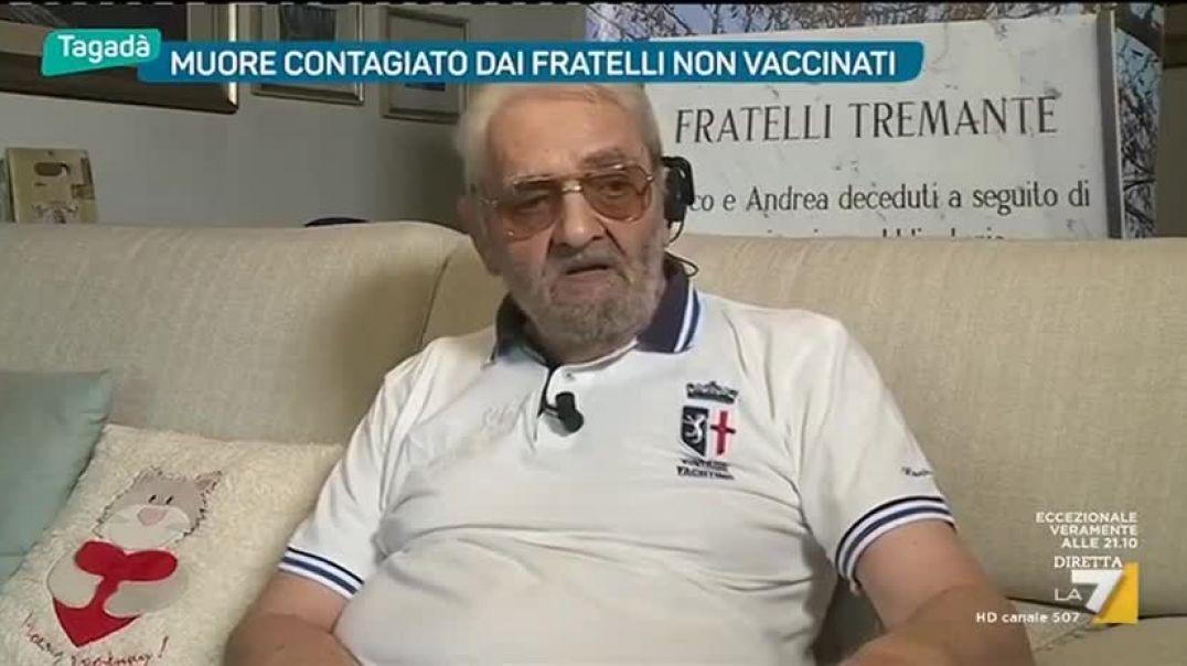 Dos de mis hijos murieron por la vacuna. En Italiano.