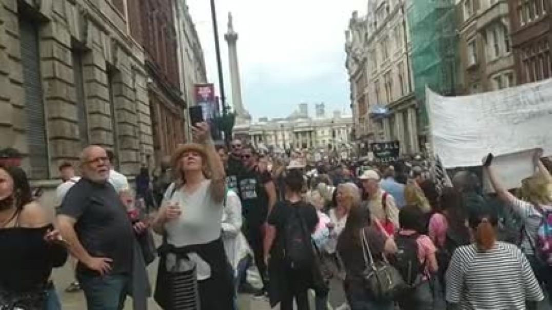 Londres - Un millón de personas marchando por la Libertad.