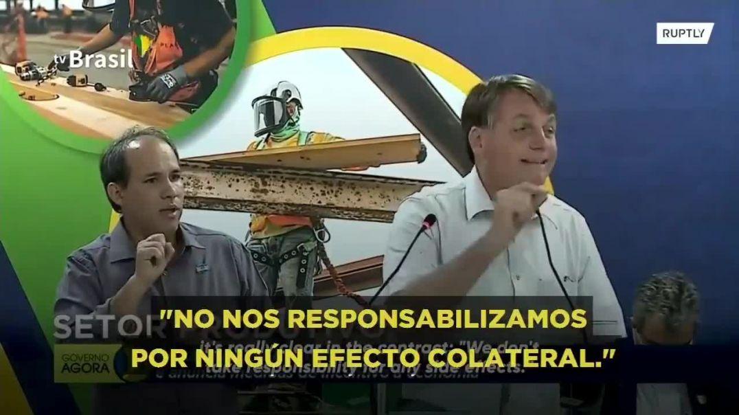 Bolsonaro acepta que la vacuna tiene graves efectos adversos.