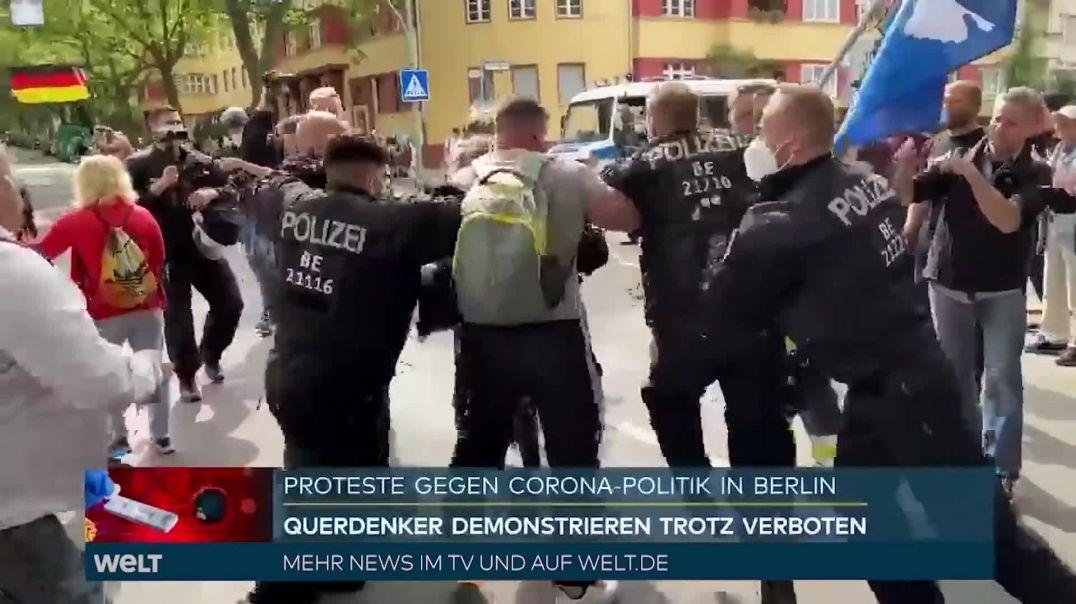 Berlín 1-8-2021... Prohibiciones, Violencia Gratuita y Muerte de un Manifestante.