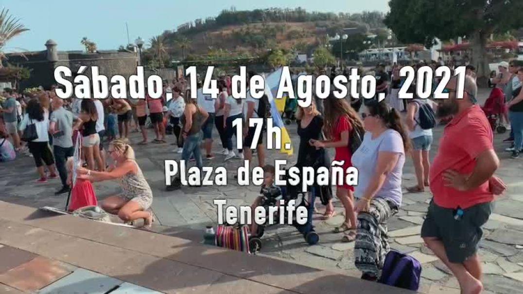 Concentración en Tenerife 14-8 2021.  ¡Los Niños no se Tocan!