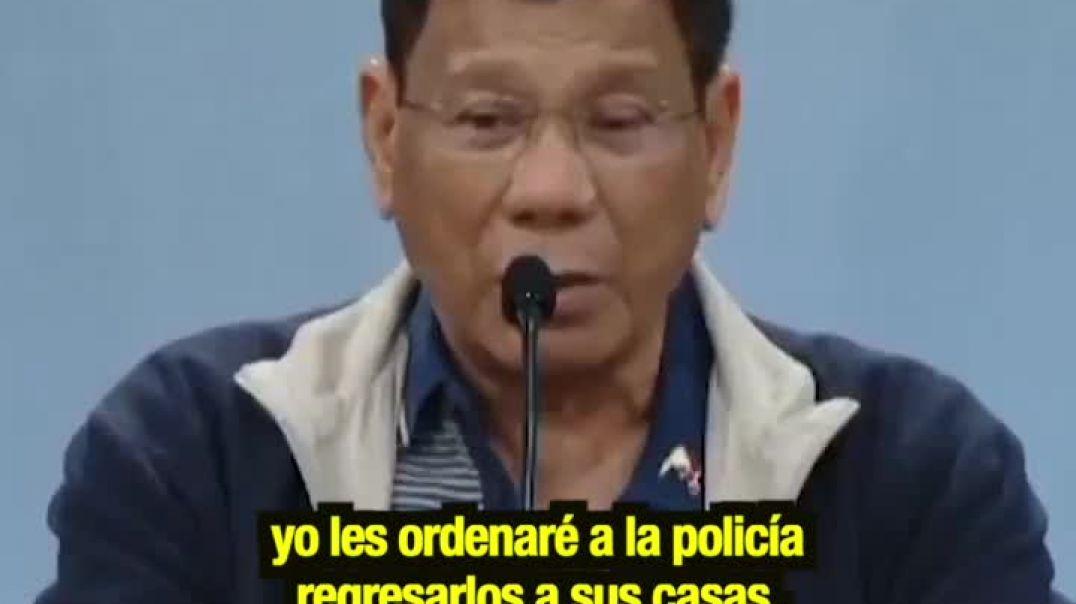Filipinas. Pdte. Rodrigo Duterte y Roa, amenazando a su pueblo - Por mi, pueden morirse pronto.