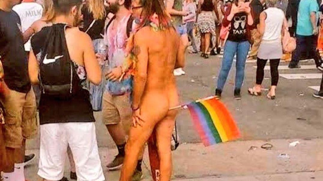 Este es el Orgullo Gay del que tan Orgullosos están por exhibirse ante los menores.